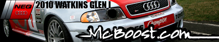Click this banner to view McBoost.com's photos of the North East Quattro Club at Watkins Glen - July 2010!