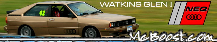 Click this banner to view McBoost.com's photos of the North East Quattro Club at Watkins Glen - 2009