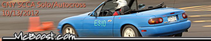 CNY SCCA Solo / AutoCross 10-13-12