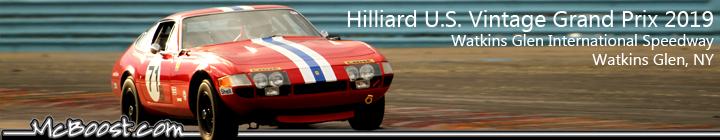 Hilliard U.S. Vintage Grand Prix at Watkins Glen International Speedway 2019!